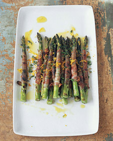 Image of Asparagus Wrapped In Pancetta With Citronette, Martha Stewart