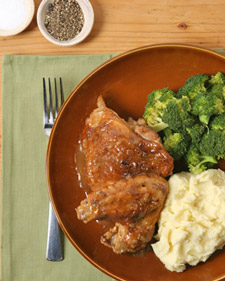 Image of Anita Baker's Smothered Chicken, Martha Stewart