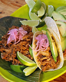 Image of Achiote Rubbed Pork Baked In Banana Leaves, Martha Stewart