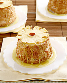 Image of Allspice Angel Food Cakes With Pineapple Curd And Oven-Dried Pineapple, Martha Stewart