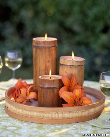 How about these bamboo candle centerpieces If you don 39t want to spend too