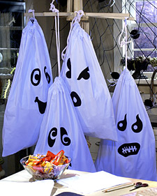 Pillowcase Trick-or-Treat Bags and more creative crafts projects, templates, tips, clip-art, patterns, and ideas on marthastewart.com