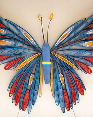 Как сделать из бумаги квиллинг бабочку