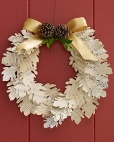 Paper-Leaf Wreath