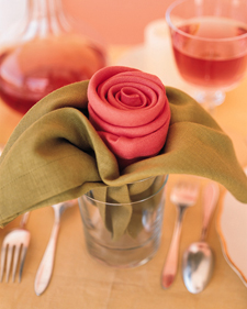 Rose Napkins