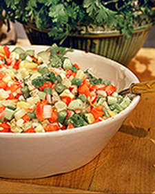 Image of Alexis's Chopped Vegetable Salad, Martha Stewart