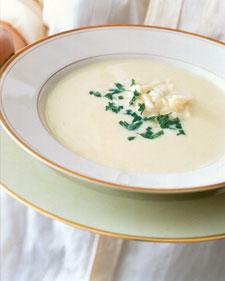 Image of Avgolemono (Greek Egg And Lemon Soup), Martha Stewart