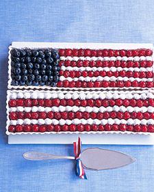 Image of American Flag Tart, Martha Stewart