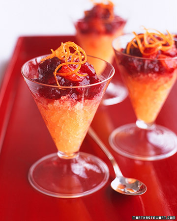 """Фотографии блюда  """"Клюквенно-ванильный коктейль с апельсиновым льдом """""""
