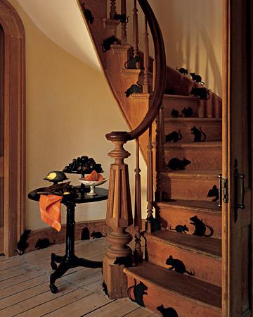 Хэллоуин: скачайте шаблон мышей для декора дома.