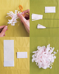 Tissue paper flowers martha stewart flowers healthy tissue paper flowers martha stewart choice image flower make 3 inch deep snips in tissue to mightylinksfo