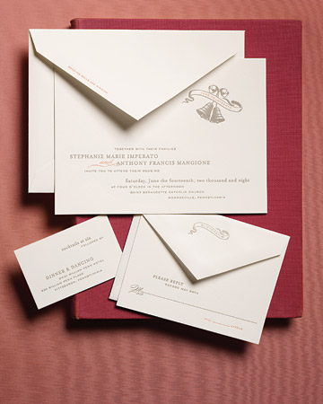 Anatomy Of An Invitation Martha Stewart Weddings